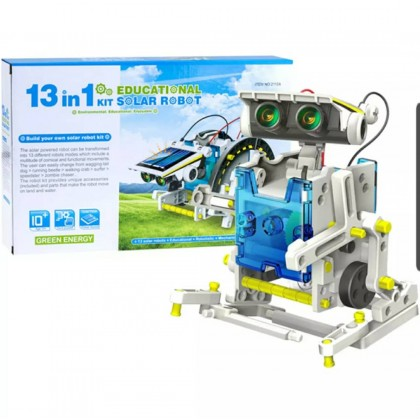13 in 1 DIY assemble toy set solar powered robot kit science educational kids