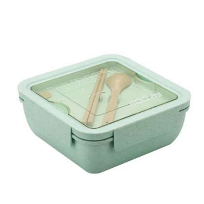 1100ml Wheat Straw Lunch Box, Large Capacity Healthy Material Lunch Box, Bento Boxes, Microwave Tableware, Food Storage
