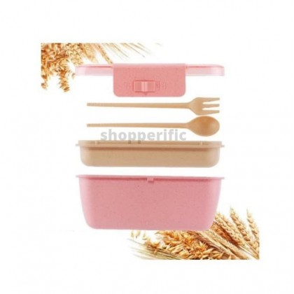 800Ml Healthy Material Lunch Box Double Layer Wheat Straw Bento Boxes Microwave Dinnerware Food Storage Container Lunchbox