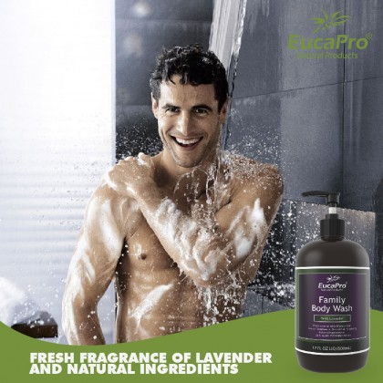 EUCAPRO SLS PARABEN SULPHATE FREE FAMILY BODY WASH - LAVENDER (GENTLE TO SKIN)